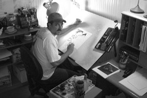 Chris Bachalo In Studio